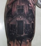 fairytale tattoo old house