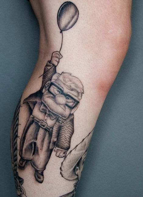 fairytale tattoo pixar up