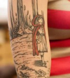 fairytale tattoo red hood in forest