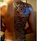 half back tattoo maori