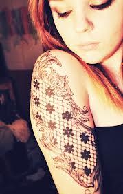 lace tattoo arm tattoo