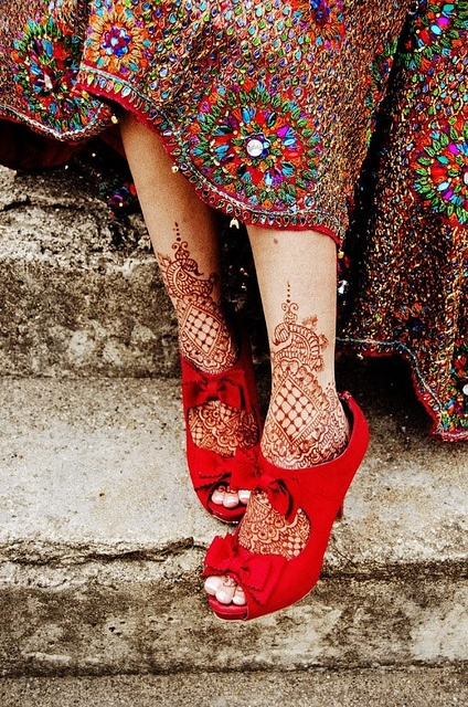 lace tattoo red high heels folk
