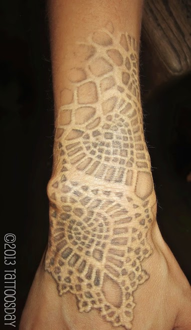 Lace tattoo white ink TattooMagz Tattoo Designs