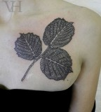 leaves tattoo by valentine hirsch