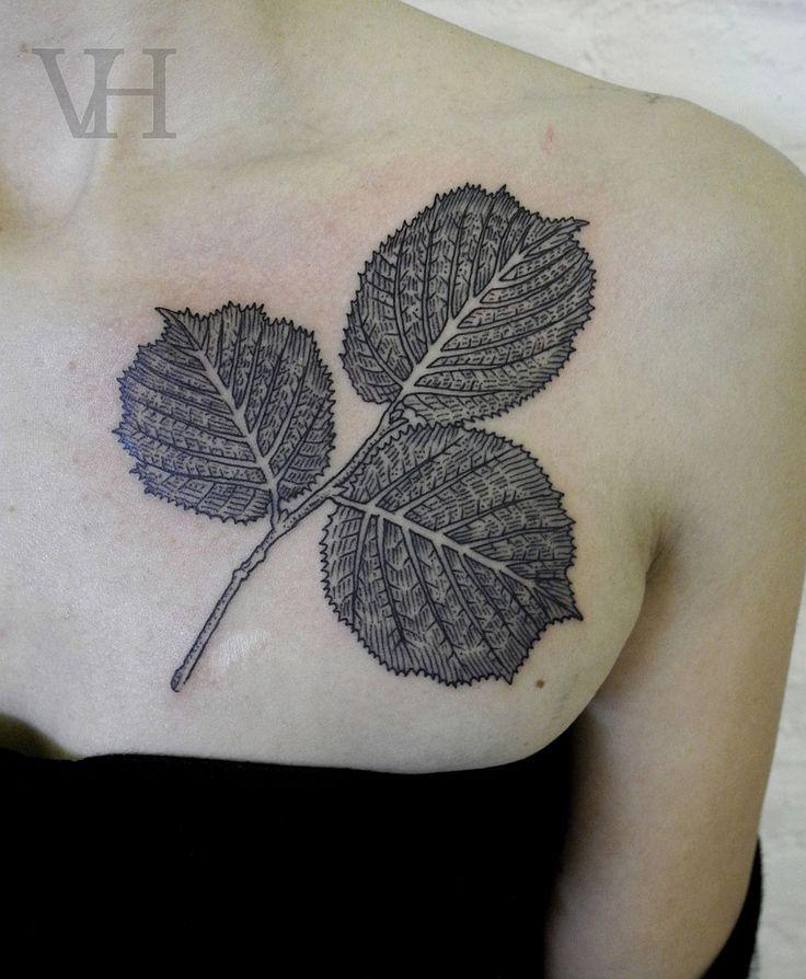 leaves tattoo by valentine hirsch