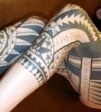 maori tattoo leg sleeve