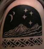 mountain at night tattoo
