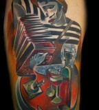 musician tattoo by bugs