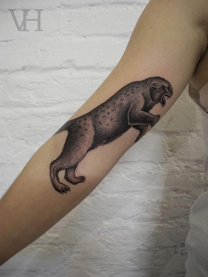 panther tattoo by valentin hirsch