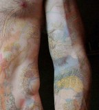pastel all body tattoo for man