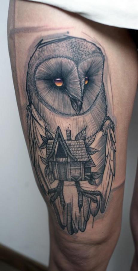 peter aurisch tattoo owl