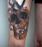 peter aurisch tattoo skull pipe