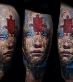 puzzle girl face by tomasz tofi torfinski