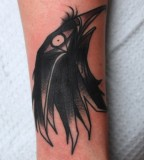 raven tattoo  by jimmy duvall