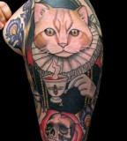 shakespeare cat tattoo