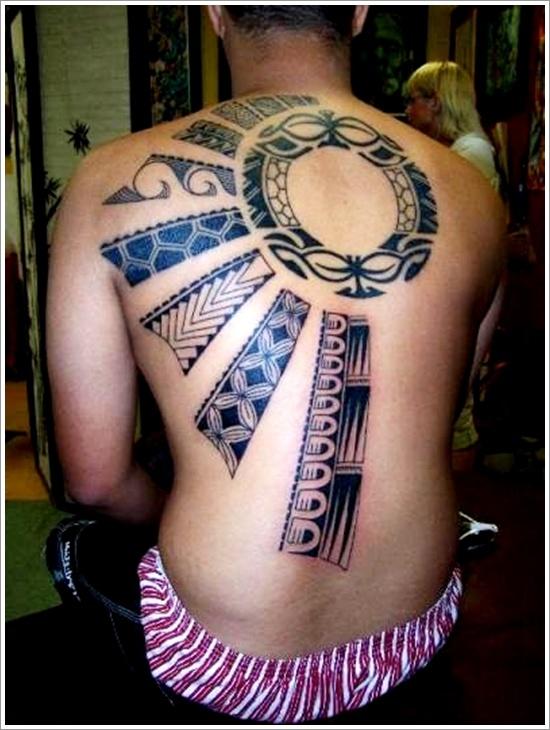 sun tattoo design full back tattoo blue