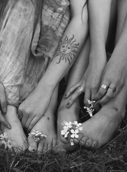 sun tattoo design girls