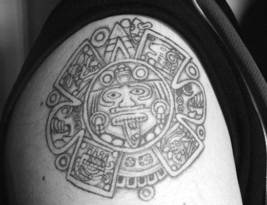 sun tattoo design mexican
