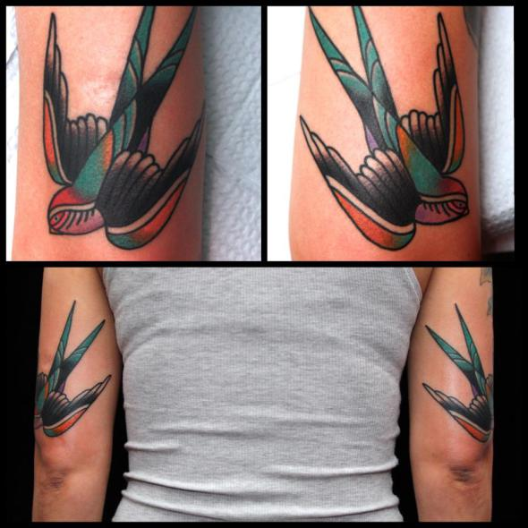 swallow tattoo by jimmy duvall