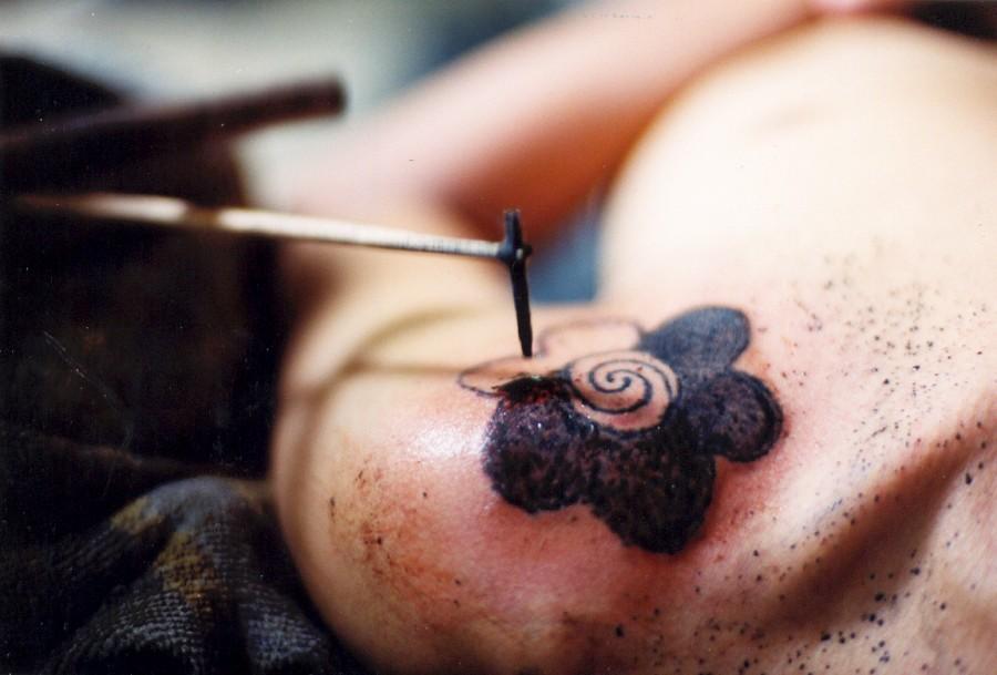 tattoo in process the borneo traditional tattoo