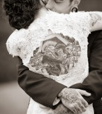 tattooed couple wedding