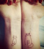 wrist tattoo for cat lovers