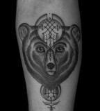 bear tattoo by jean philippe burton