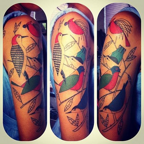 big bird piece inspired by charley harper