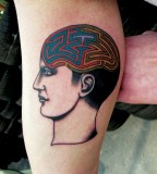 brain maze tattoo by luca font