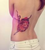 colorful ballet dancer tattoo