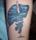 dancer like a flower tattoo