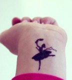 dancer tattoo blackwork