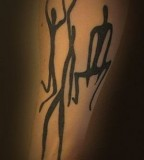 dancers tattoo blackwork
