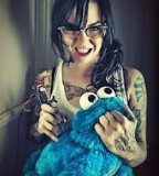 fabrice petre tattoo photography girl with cookie monster