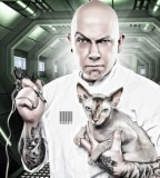 fabrice petre tattoo photography tattoo master with cat