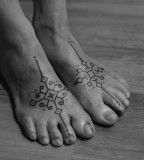 feet tattoo by jean philippe burton