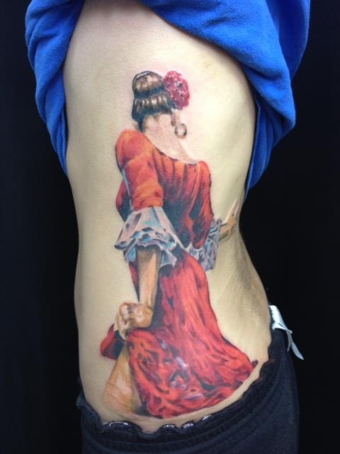 flamenco dancer tattoo