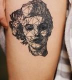 geometric marilyn monroe tattoo by diana katsko