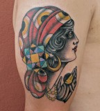 gipsy woman tattoo by luca font