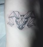goat skull tattoo by diana katsko