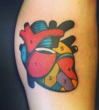 heart tattoo by luca font