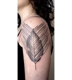 leaf tattoo by victor j webster