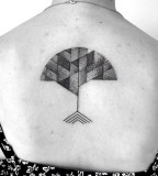 modernist tree tatoo dotwork by victor j webster