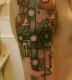 old city tattoo by noon