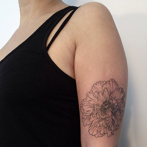 peony tattoo by victor j webster