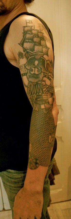 pirate tattoo by noon