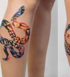 sasha unisex tattoo geometric snake