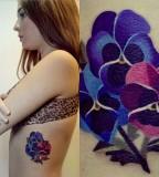 sasha unisex tattoo violets