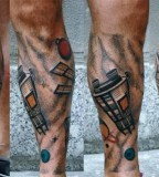 satellites tattoo by luca font