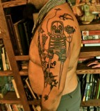 skeleton operator tattoo